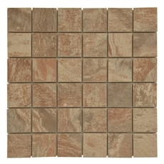 Spanish Steps Rust Porcelain Mosaic