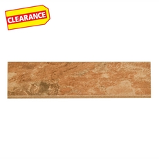 Clearance! Spanish Steps Rust Porcelain Bullnose