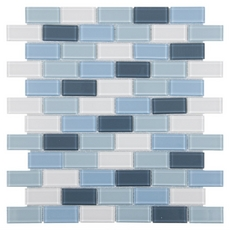 Festival Marsala Multi Finish Brick Glass Mosaic