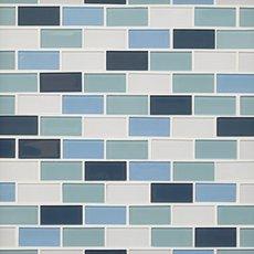 Marsala 1 x2 in. Brick Glass Mosaic