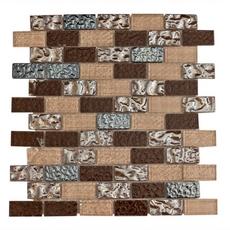 Modica Brick Multi Finish Glass Mosaic