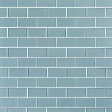 Pure Spa Blue Shiny Glass Tile