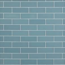 Spa Blue Shiny Glass Tile