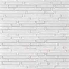 Pure Snow White Shiny Stick Glass Mosaic