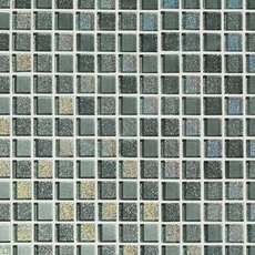 Montage Shiny Gray Square Mix Crystal Glass Mosaic