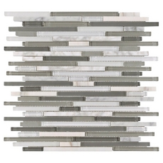 Carisma Carrara Stick Glass Mosaic
