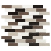 Stone Henge Modern Polished Brick Glass Mosaic
