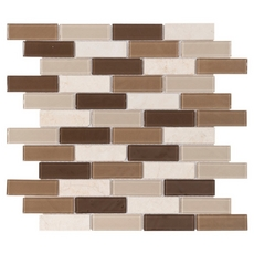 Stone Henge Classic Multi Finish Brick Glass Mosaic