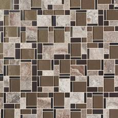 Stone Matrix Classic Polished Glass Mosaic