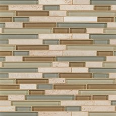 Spa Linear Glass and Stone Mosaic