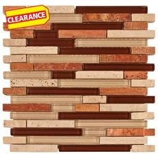 Clearance! Lima Mix Stick Glass and Stone Mosaic