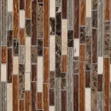 Bogota Linear Glass and Stone Mosaic