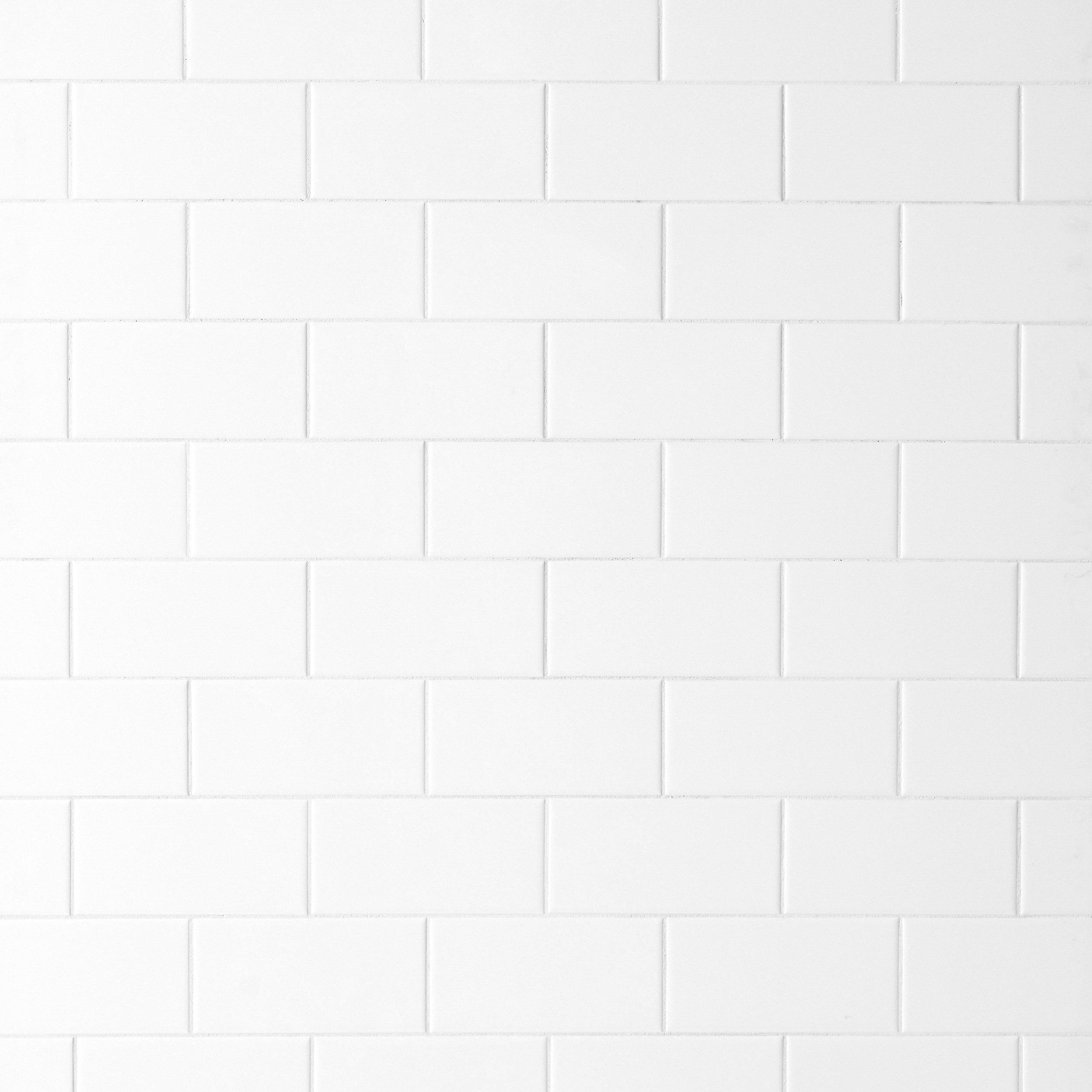 Bright White Ice Subway Ceramic Wall Tile