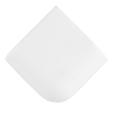 Bright White Ice Ceramic Corner Mud Cap