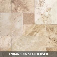 Mediterranean Rustic Brushed Travertine Tile