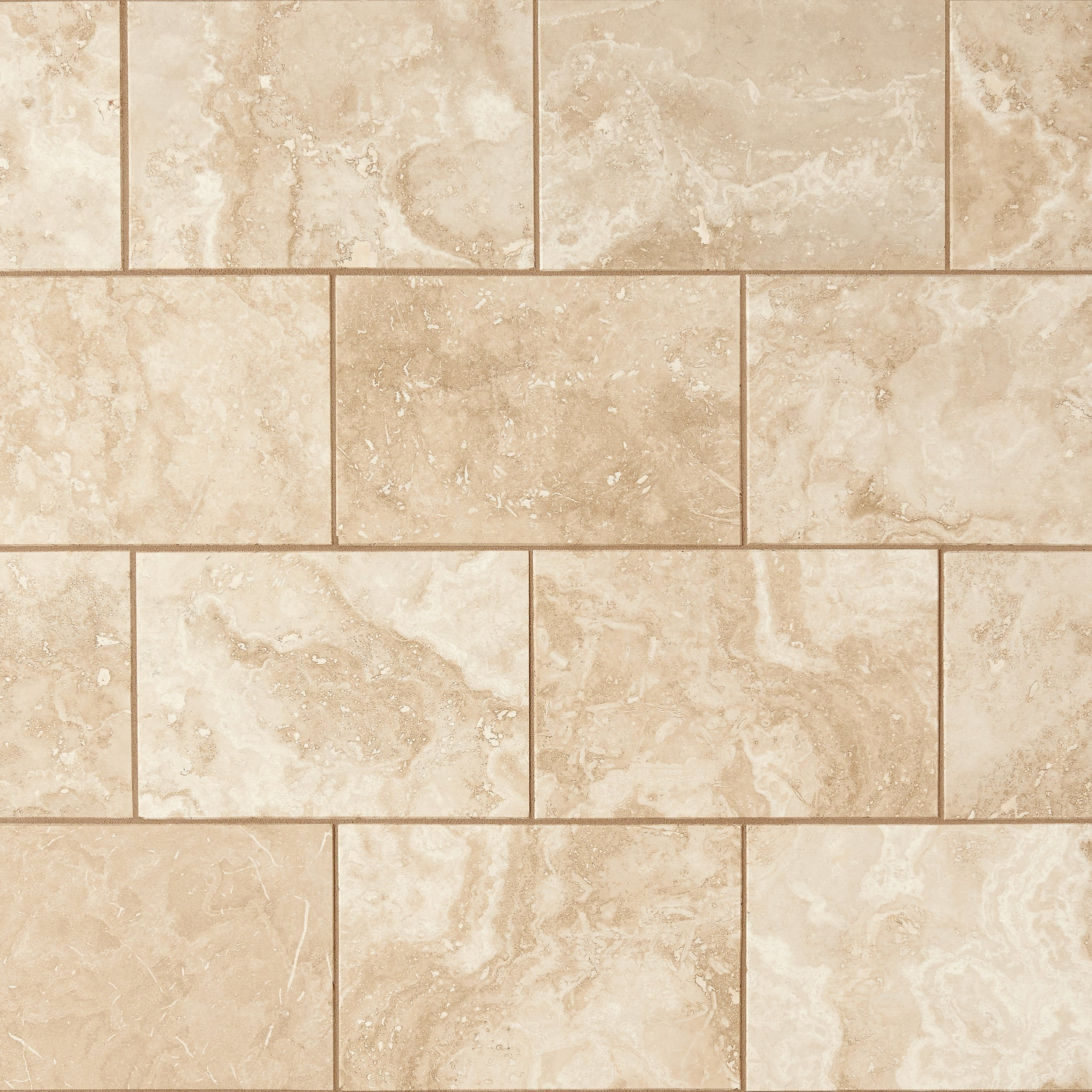 Perla beige polished travertine tile