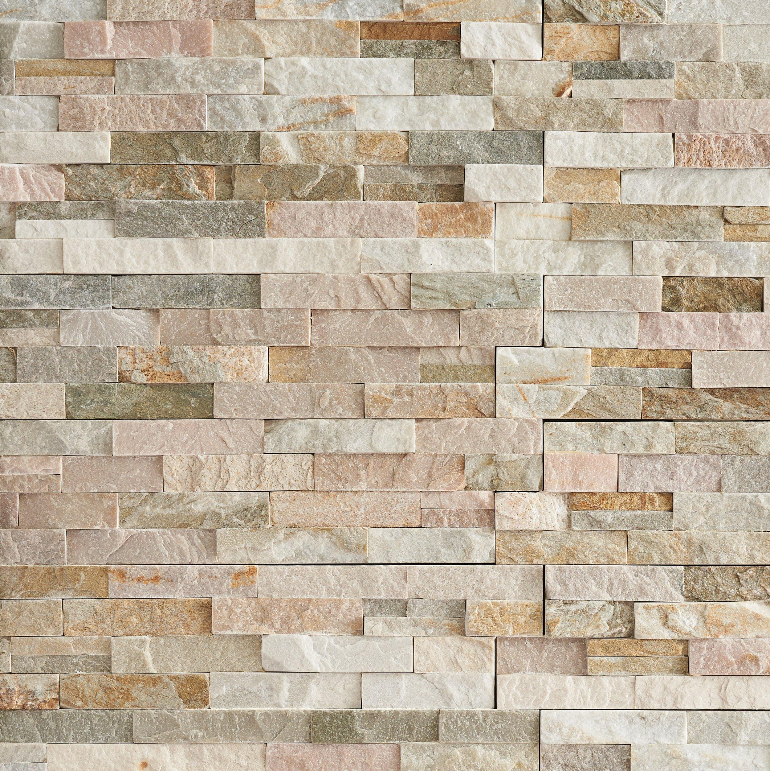 stacked stone ledger panel floor decor