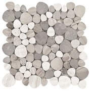 Gubbio Honed Pebblestone Marble Mosaic