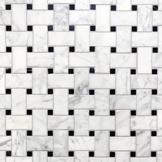 Bianco Carrara Basketweave Marble Mosaic