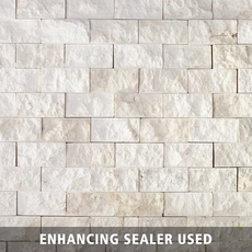 Pearl Stacked Stone Brick Marble Mosaic