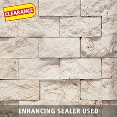 Clearance! Vanilla Brick Travertine Mosaic