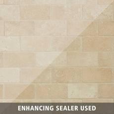 Crema Antiqua Brick Travertine Mosaic