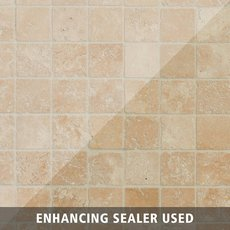 Crema Antiqua Tumbled Travertine Mosaic