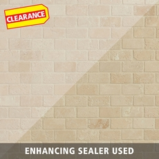 Clearance! Crema Antiqua Tumbled Brick Travertine Mosaic
