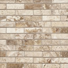 Camila Polished Brick Travertine Mosaic