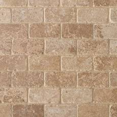Noce Brick Travertine Mosaic