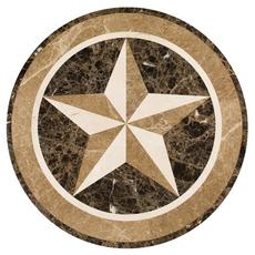 Texas Star Water Jet Cut Medallion