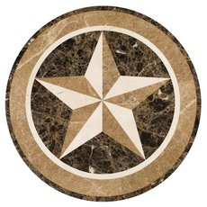 Texas Star Waterjet Marble Medallion