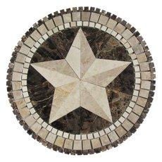 Texas Star Marble Medallion
