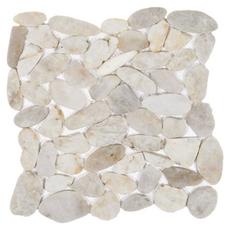 Gray Flat Pebble Stone Mosaic