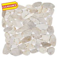 Clearance! Gray Flat Pebblestone Mosaic