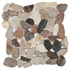 Multi Flat Matte Pebble Mosaic