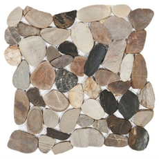 Multi Flat Pebble Stone Mosaic