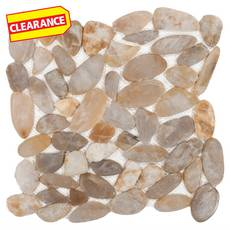 Clearance! Gold Flat Pebble Mosaic