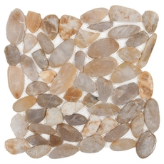 Gold Flat Pebble Stone Mosaic