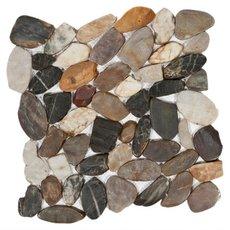Multi Flat Polished Pebblestone Mosaic