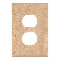Light Beige Travertine Outlet Plate