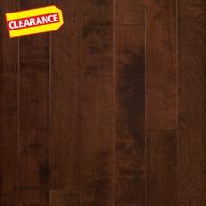 Clearance! Mocha Birch Smooth Engineered Hardwood