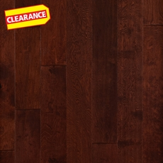 Clearance! Bronze Birch Hand Scraped Engineered Hardwood