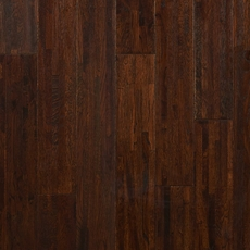 Timberclick Coffee Oak Wire Brushed Solid Hardwood