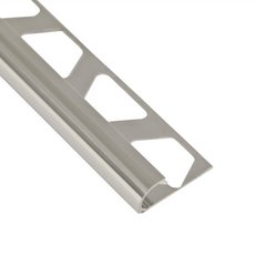 Schluter-Rondec Bullnose Edge Trim 3/8in. in Polished Chrome Anodized Aluminum