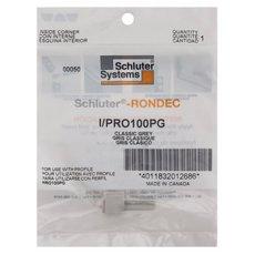Schluter-Rondec Inside Corner for 3/8in. PVC Classic Gray Rondec Profile