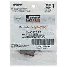 Schluter-Quadec Outside/Inside Corners for 1/2in. Satin Nickel Anodized Aluminum Quadec Profile