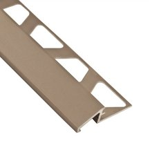 Schluter-Reno-U Transition Profile 3/8in. in Satin Nickel Anodized Aluminum