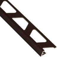 Schluter-Jolly Edge Trim 5/16in. in Brushed Antique Bronze Anodized Aluminum