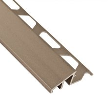 Schluter-Reno-U Transition Profile 1/2in. in Satin Nickel Anodized Aluminum